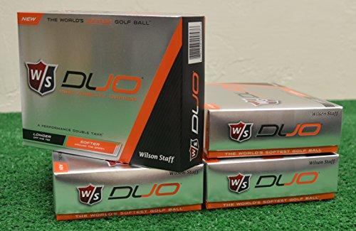 4 Dozen Wilson Staff Duo Orange Golf Balls by Wilson Staff