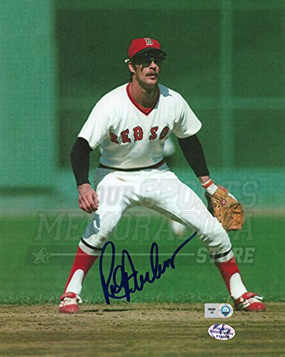 (Rick Burleson Boston Red Sox Signed Autographed Outfield 8x10 Gold Glove)
