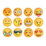 Emoji Refrigerator Magnets, Fridge Magnets, Cute Magnets, Perfect for Magnetic Message Whiteboard, Office Cabinets,12 Pack from Diames