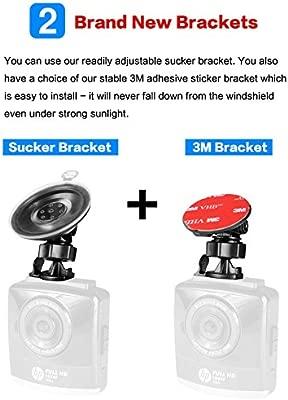 HP Dashcam C/ámara de Coche Full HD 1296p C/ámara para Coche Videoc/ámara DVR G-Sensor Visi/ón Nocturna 2.4 LCD gran /ángulo coche Dashboard Camera Grabadora Ciclo de Grabaci/ón