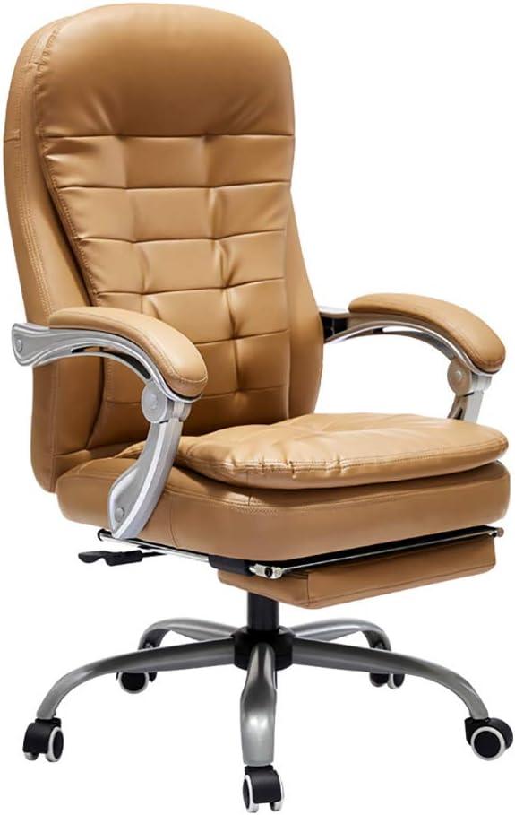 GIRISR Chaise De Bureau avec Repose-Pieds Et Appui-Tête Chaise De Bureau Accueil Chaise De Bureau en Cuir Véritable Chaise De Bureau Chaise De Bureau