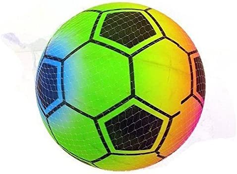 Balón de fútbol de arco iris de 22 cm (8 y 1/2 pulgadas) - Bola de