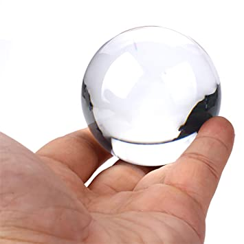 100mm Crystal Ultra Clear Acrylic Ball Manipulation Contact Juggling Magic Trick