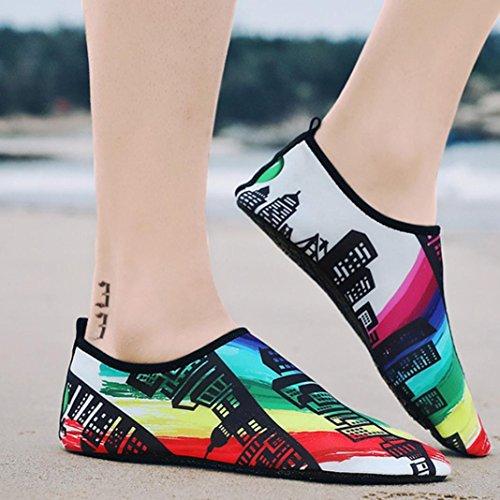 Natación Playa Multicolor Moda Natación Zapatos 2 Verano Parejas Calcetines Casuales Planos Buceo Mujeres Sandalias Bastante Snorkel OHQ Zapatos Yoga Zapatos qZxBnn1