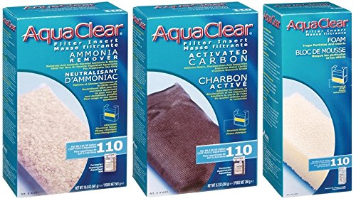 Aquaclear 110 Replacement Media Bundle: Sponge, Carbon, Ammonia Remover by Aqua Clear