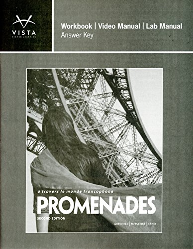 Promenades 2nd ANSWER KEY for Workbook/Video and Lab Manual