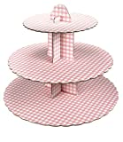 Bombay Duck Cupcake Stand - 3 Tier Pink Gingham