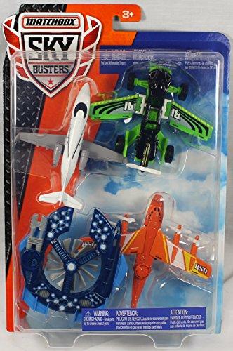 Matchbox Sky Busters Airplane 4-Pack - Hondajet HA-20, Freeway Flyer, Strato Stormer, Sky Sentry (Sky Busters)