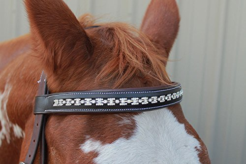 Horse 1908 (St. Charles English Polo Bridle Horse Leather Reins Equestrian Bit 1908)