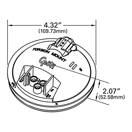 Amazon Com Grote 62271 3 Torsion Mount Ii 4 Clear Back Up Lamp