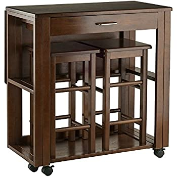 Amazon Com Counter Height Folding Table With Stools