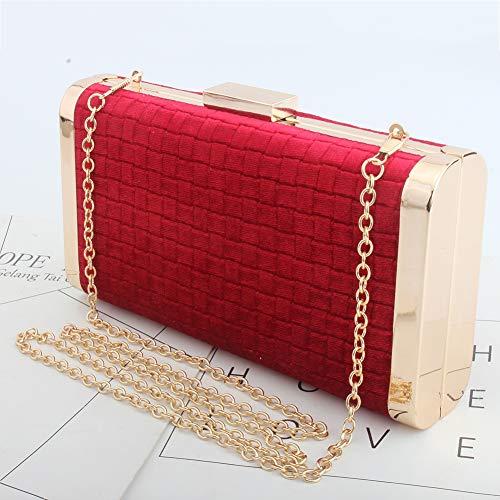 Cadena Billetera Mujer Bolso Terciopelo Red De blue Paquete Clutch Noche Embrague Mano Bag Las Mujeres Bolsos 0qO4cSBq