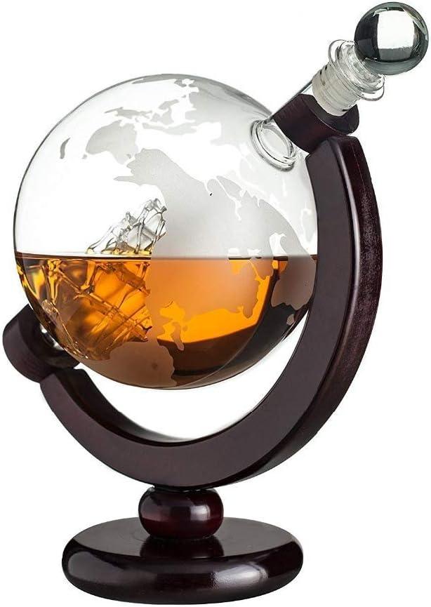 1000ML World Decanter- Whisky Globe Decanter W Box - The Wine ...