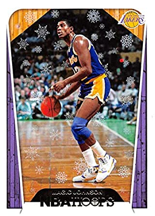 38d4c8784 2018-19 NBA Hoops Holiday  283 Magic Johnson Tribute Los Angeles Lakers  Official Panini