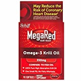 MegaRed 350mg Omega-3 Krill Oil, 90 Softgels (Pack of 2)