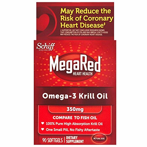MegaRed 350mg Omega-3 Krill Oil, 90 softgels (Pack of 6) by Schiff
