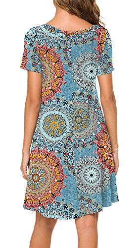 POPYOUNG-Womens-Summer-Casual-Tshirt-Dresses-Short-Sleeve-Boho-Beach-Dress