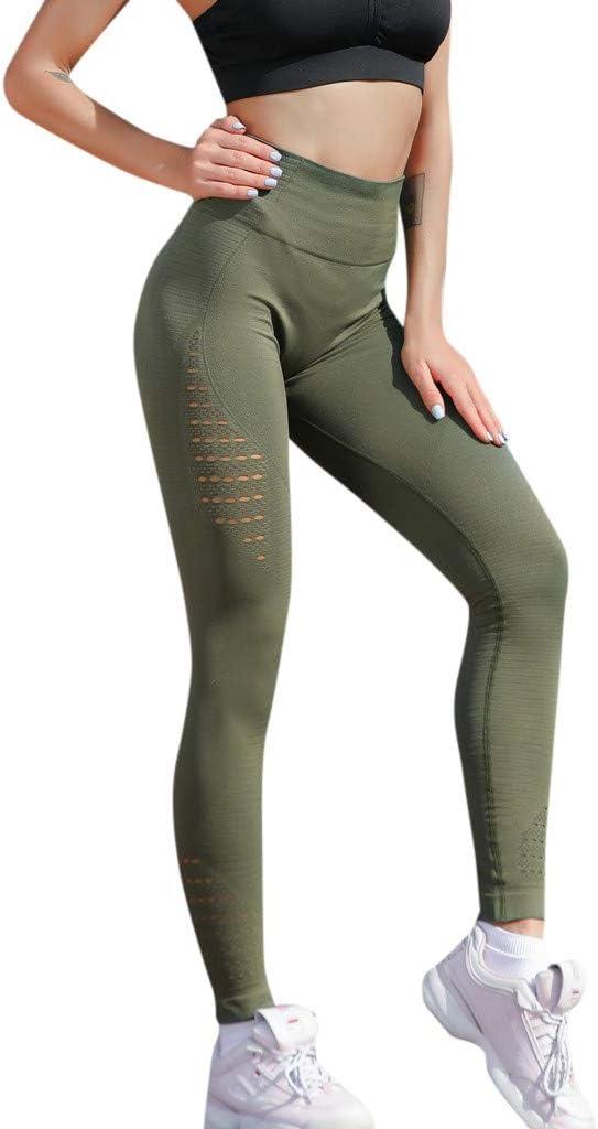 Resplend ♥♥♥Leggings Legging de Sport Femme Vert Vert