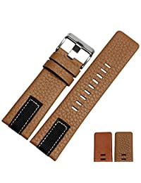 Memery Space Genuine Leather Soft Strap Diesel Replacement 26mm (Kahki)