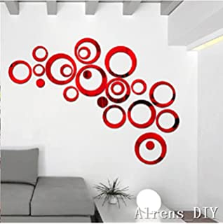 Alrens_DIY(TM) 22pcs Rounds Dots Circles Mirror Surface Crystal Wall  Stickers DIY Acrylic 3D
