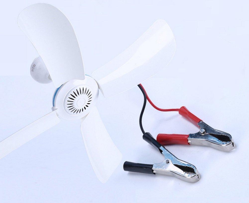 Ocamo Deckenventilatoren DC 12V Niederspannungs Decken h?ngender Ventilator Haushalts kampierender elektrischer Ventilator