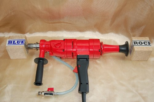 4'' CONCRETE CORING DRILL 4'' Z-1 CORE DRILL 2 SPEED by BLUEROCK ® TOOLS Z1 COMES WITH DURABLE CARRYING CASE + 2 BITS UP TO 4'' by BLUEROCK TOOLS