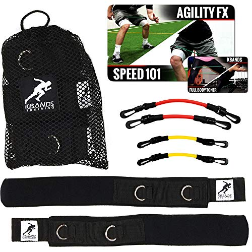 Kbands | Speed and Strength Leg Resistance Bands | Includes Speed 101 and Agility FX Digital Training Programs (User Weight Less Than 110 Lbs)