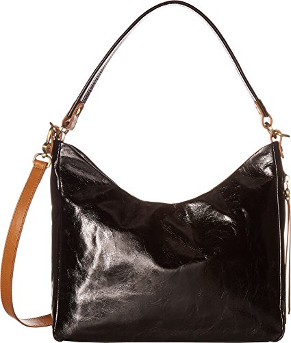 Hobo Bag Convertible Leather Women's Black Shoulder Delilah wzqwCrO