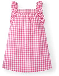 Girls' Frill Sleeve Woven Dress Made with Organic Cotton