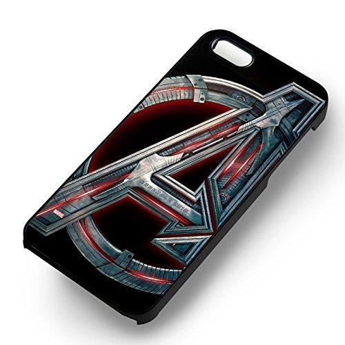 Logo Avengers pour Coque Iphone 6 et Coque Iphone 6s Case (Noir Boîtier en plastique dur) L6A8SX