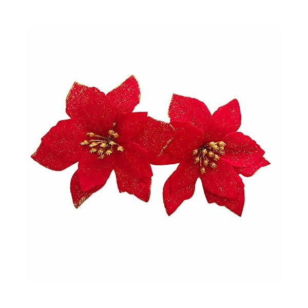 12pcs-Artificial-Christmas-Flowers-Red-Poinsettia-Christmas-Tree-Ornaments