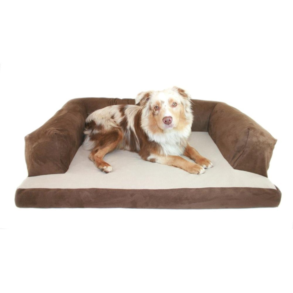 Chocolate Small Chocolate Small Beasley's Couch Dog Bed Small Teal Paw by Pets Alley
