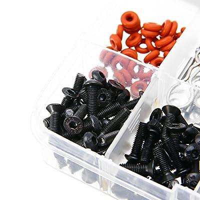 prorcmodel 270 in One Set Screws Box Repair Tool Kit for 1/10 HSP RC Car DIY Kits 94188: Toys & Games