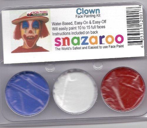 Snazaroo SZTHEMECLOWN Clown Theme Face Paint Kit ()