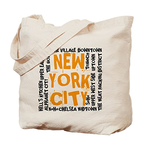 CafePress - NYC_Neighborhoods(On-White)2 - Natural Canvas Tote Bag, Cloth Shopping - Nyc Soho Shopping