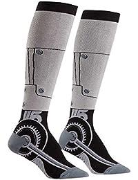 Toe-tal Recall, Women's Knee-High Funky Socks, Machine, Sci-fi Socks