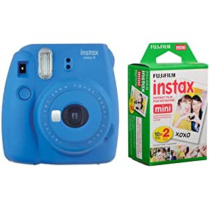 Fujifilm instax Mini 9 +20'li Film+Askı (KOYU MAVİ)
