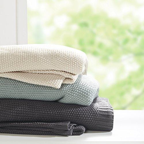 Knit Blanket King/Aqua - Knit Blanket Acrylic