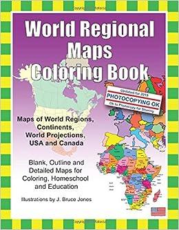 Amazon.com: World Regional Maps Coloring Book: Maps of World ...