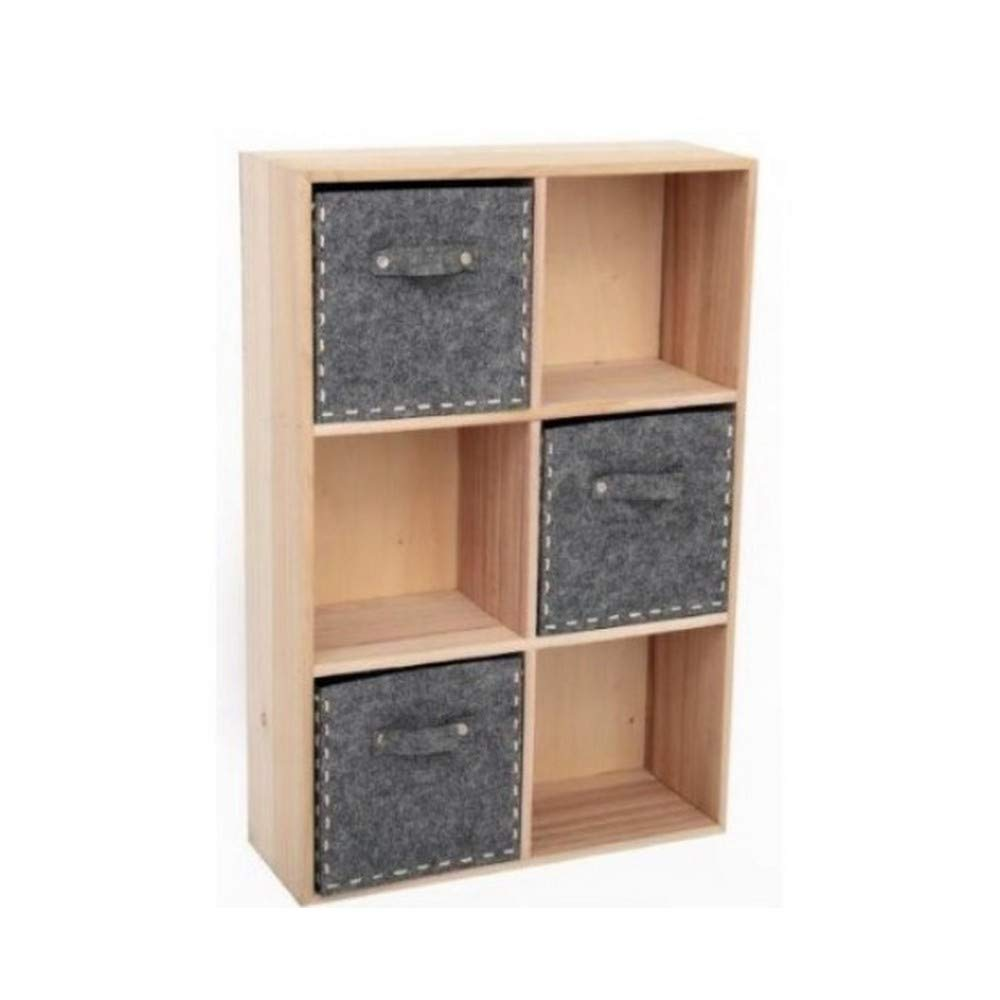Gainsborough Giftware Natural Wood And Felt Shelves (23 x 15in) (Brown/Black)