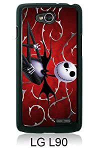 Beautiful And Unique Designed Case For LG L90 With Jack Skellington black Phone Case