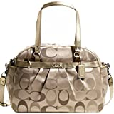 New Authentic COACH Signature 3 Color Khaki Addison Baby Diaper Bag 18376 w/COACH Receipt