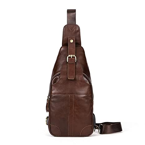 Color : Coffee Color YUKILO Mens Shoulder Bag Satchel Handbag Vintage Leather Briefcase Crossbody Day Bag for School and Work