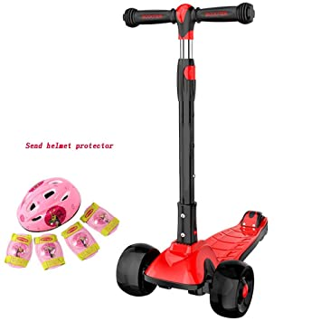 YUMEIGE Patinete scooters de 3 alturas ajustable para niños ...