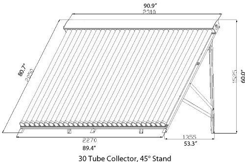 300 liter duda solar water heater active split system single coil tank evacuated vacuum tubes