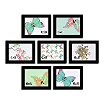 Parallel lingered set of 7 individual photo frame