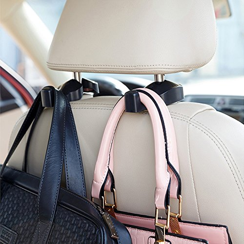 2PCS Headrest Car Hooks Universal Vehicle Back Seat Headrest Hanger Holder Hook Hanger Holder Hooks Clips Organizer Hook Purse Clip