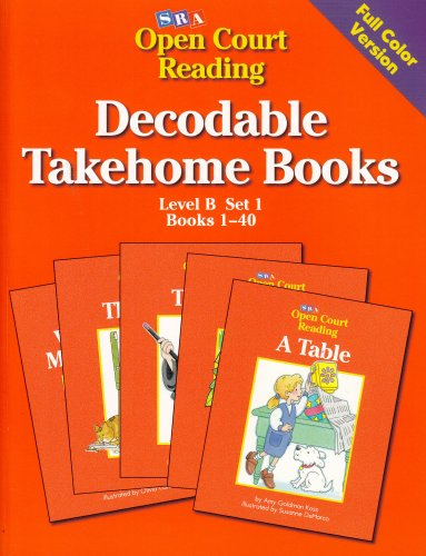 Open Court Reading Decodable Takehome Books: Level B, Set 1, Books 1-40