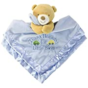 Baby Starters Snuggle Buddy with Blanket and Rattle Thank Heaven for Little Boys Bear, Blue