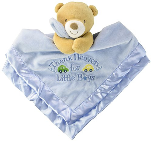 Baby Starters Snuggle Buddy with Blanket and Rattle Thank Heaven for Little Boys Bear, (Snuggle Bear Blanket)